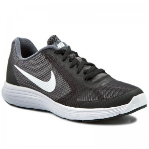 Nike Schuhe Revolution 3 (GS) 819413 001 Dark Grey/White/Black Pr Platnm