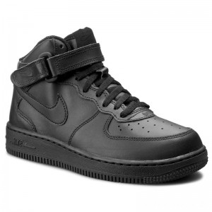 Nike Schuhe Force 1 Mid (PS) 314196 004 Black/Black
