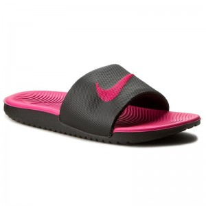 Black Friday 2020 - Nike Pantoletten Kawa Slide (Gs/Ps) 819353 001 Black/Vivid Pink
