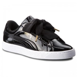 Black Friday 2020 - Puma Sneakers Basket Heart Patent 363073 01 Black/Puma Black