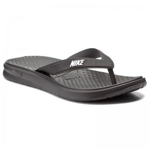 Nike Zehentrenner Solay Thong 882699 002 Black/White