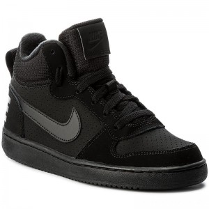 Nike Schuhe Court Borough Mid (GS) 839977 001 Black/Black/Black