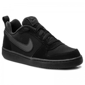 Nike Schuhe Court Borough Low (GS) 839985 001 Black/Black/Black