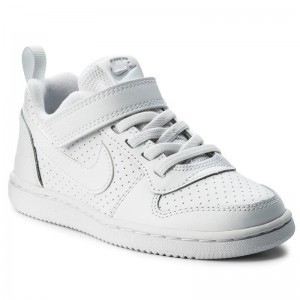 Nike Schuhe Court Borough Low 870025 100 White/White