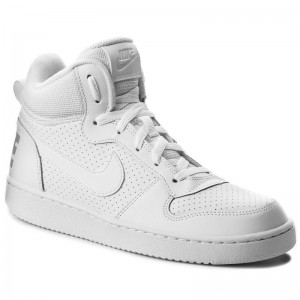 Nike Schuhe Court Borough Mid (GS) 839977 100 White/White/White