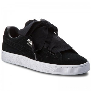 Black Friday 2020 - Puma Sneakers Suede Heart Valentine Jr 365135 02 Black/Puma Black