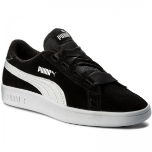 Puma Sneakers Smash V2 Ribbon Jr 366003 01 Black/Puma White