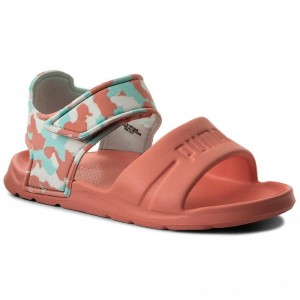 Black Friday 2020 - Puma Sandalen Wild Sandal Injex Camo PS 365081 03 Soft Fluo Peach/Puma White