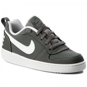 Nike Schuhe Court Borough Low (GS) 839985 002 Cool Grey/White
