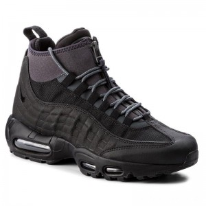Nike Schuhe Air Max 95 Sneakerboot 806809 001 Black/Black/Anthracite/White