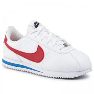 Nike Schuhe Cortez Basic Sl (GS) 904764 103 White/Varsity Red