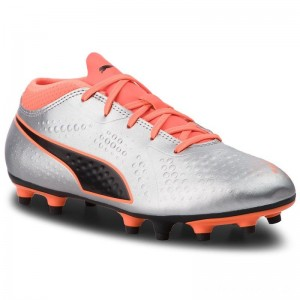 Puma Schuhe One 4 Syn Fg Jr 104782 11 Silver/Orange/Black