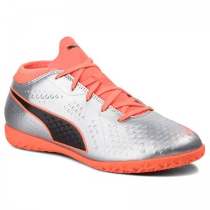 Black Friday 2020 - Puma Schuhe One 4 Syn It Jr 104783 01 Silver/Orange/Black 1