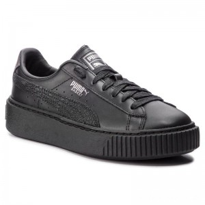 Black Friday 2020 - Puma Sneakers Basket Platform Euphoria Metal 367850 02 Black/Puma Aged Silver