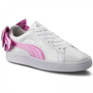 Black Friday 2020 - Puma Sneakers Basket Bow Patent Jr 367621 02 White/Orchid/Gray