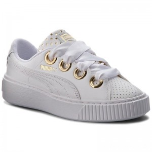 Black Friday 2020 - Puma Sneakers Platform Kiss Ath Lux Wn's 366704 01 White/Puma White