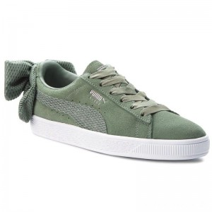 Black Friday 2020 - Puma Sneakers Suede Bow Uprising Wn's 367455 02 Laurel Wreath/Puma White