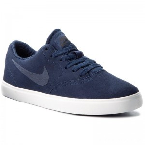 Nike Schuhe Sb Check Suede (GS) AR0132 400 Midnight Navy/Midnight Navy