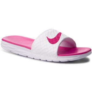 Black Friday 2020 - Nike Pantoletten Benassi Solarsoft 705475 160 White/Fireberry