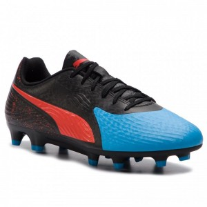 Puma Schuhe One 19.4 Fg/Ag 105492 01 Bleu Azur/Red Blast/Black