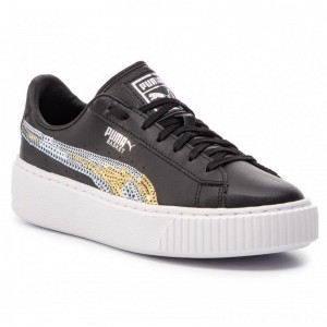 Puma Sneakers Basket Pltfrm Trailblazer SQN Jr 369045 03 Black/Puma Team Gold