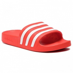 Adidas Pantoletten adilette Aqua F35540 Actred/Ftwwht/Actred