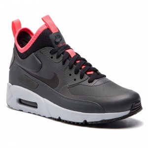 Nike Schuhe Air Max 90 Ultra Mid Winter 924458 003 Anthracite/Black/Solar Red