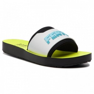 Black Friday 2020 - Puma Pantoletten Fenty Surf Slide Wns 367747 02 Fuma Black/White/Yellow
