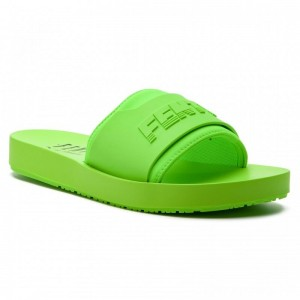 Black Friday 2020 - Puma Pantoletten Fenty Surf Slide Wns 367747 04 Green Gecko/Green Gecko