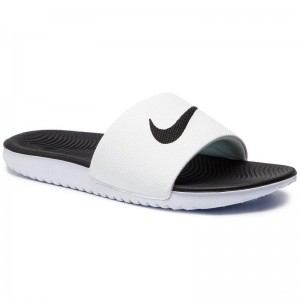 Nike Pantoletten Kawa Slide (GS/PS) 819352 100 White/Black