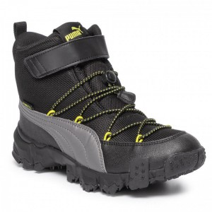 Black Friday 2020 - Puma Trekkingschuhe Maka Puretex V Jr 192911 02 Castlerock/Nrgy Yellow