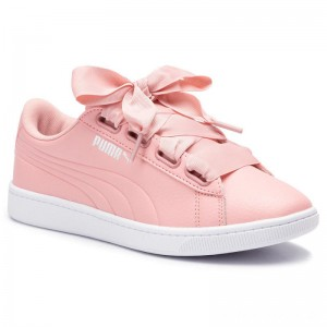 Black Friday 2020 - Puma Sneakers Vikky V2 Ribbon Core 369114 06 Bridal Rose/Silver/White