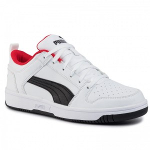 Black Friday 2020 - Puma Sneakers Rebound Layup Lo Sl 369866 01 White/Black/High Risk Red