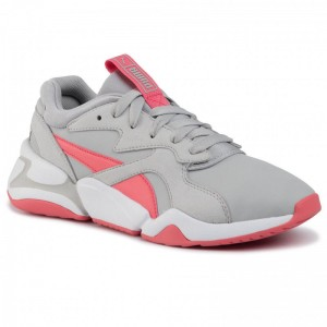 Black Friday 2020 - Puma Sneakers Nova Core Sl Jr 370129 02 Gray Violet/Calypso Coral
