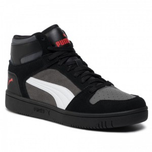 Black Friday 2020 - Puma Sneakers Rebound Layup Sd 370219 02 Blk/Castlerock/Wht/Hrisk Red