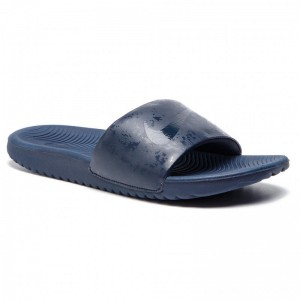 Black Friday 2020 - Nike Pantoletten Kawa Slide (GS/PS) 819352 401 Obsidian/Obsidian/Obsidian