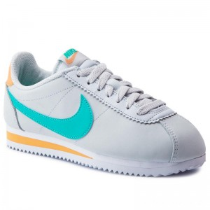 Black Friday 2020 - Nike Schuhe Classic Cortez Leather 807471 019 Pure Platinum/Hyper Jade