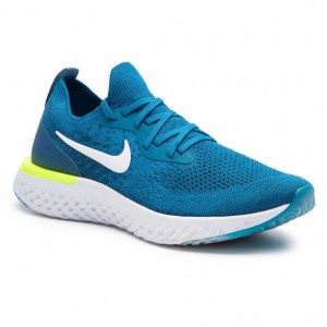 Nike Schuhe Epic React Flyknit AQ0067 302 Green Abyss/White-Blue Force