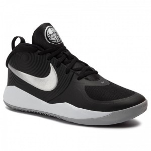 Nike Schuhe Team Hustle D 9 (Gs) AQ4224 001 Black/Metalic Silver