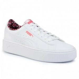 Black Friday 2020 - Puma Sneakers Vikky Stacked Neon Lights 370280 02 White/Puma/Coral