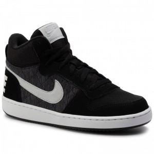 Black Friday 2020 - Nike Schuhe Court Borough Mid Se (Gs) 918340 007 Black/Piure Platinum/Cool Grey