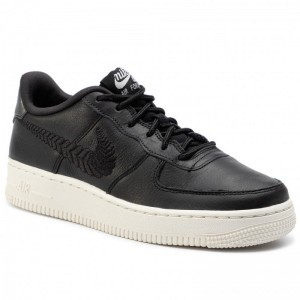 Nike Schuhe Air Force 1 Prm Emb (Gs) AV0750 001 Black/Black/Pale Ivory