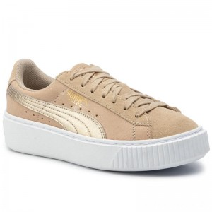 Black Friday 2020 - Puma Sneakers Suede Platform Bubble Wn's 364594 Safari/Safari