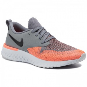 Nike Schuhe Odyssey React 2 Flyknit AH1016 004 Cool Grey/Black/Bright Mango