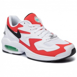 Nike Schuhe Air Max2 Light AO1741 101 White/Black/Habanero Red