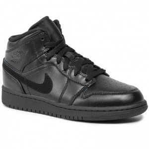 Black Friday 2020 - Nike Schuhe Air Jordan 1 Mid (Gs) 554725 090 Black/Black/Black