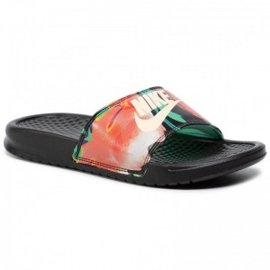 Black Friday 2020 - Nike Pantoletten Benassi Jdi Print 618919 019 Black/Crimson Tint/Green Glow