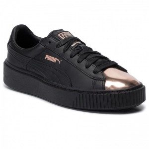 Puma Sneakers Basket Platform Metallic 366169 02 Black/Rose Gold