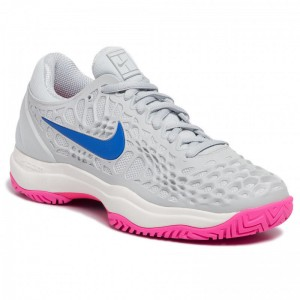 Nike Schuhe Air Zoom Cage 3 Hc 918199 003 Pure Platinum/Racer Blue