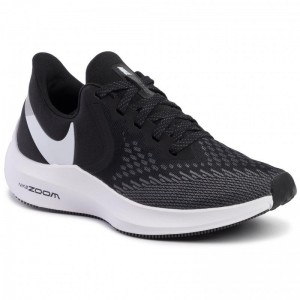 Nike Schuhe Zoom Winflo 6 AQ8228 003 Black/White/Dark Grey